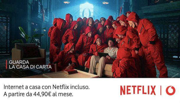 Abbonamento Netflix con Vodafone
