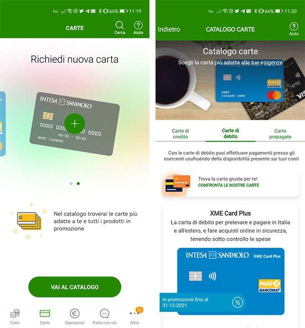 Come attivare XME Card Plus da app