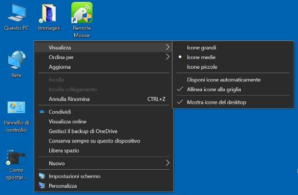 Come spostare le icone sul desktop liberamente