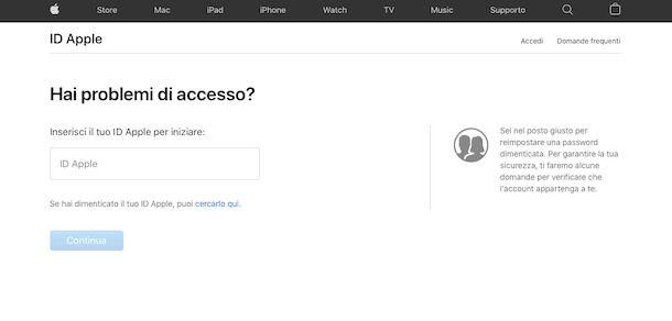Recuperare account Apple