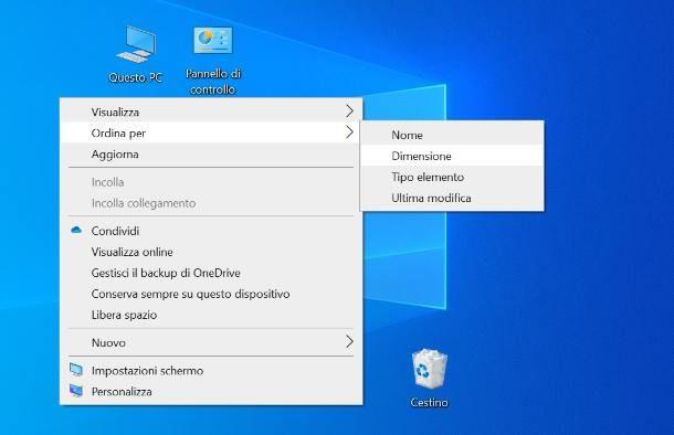 Come spostare le icone sul desktop su Windows 7