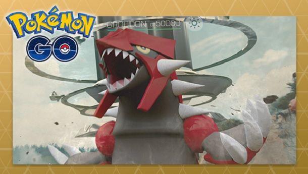 Groudon leggendario Pokemon GO