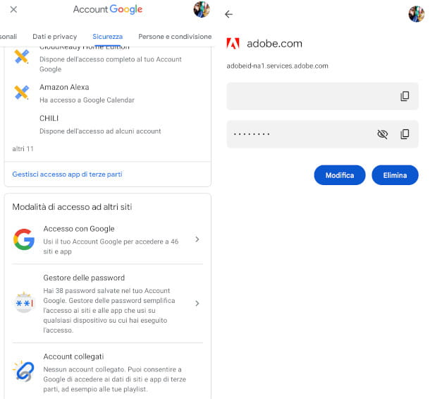 come verificare password android