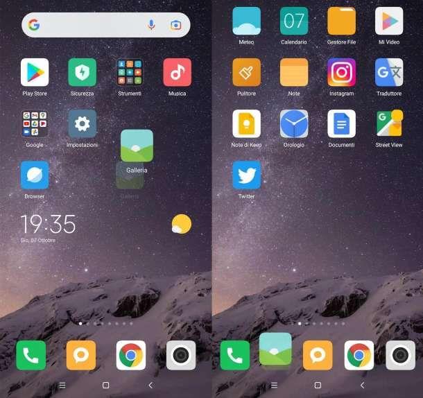Come spostare icone su Android