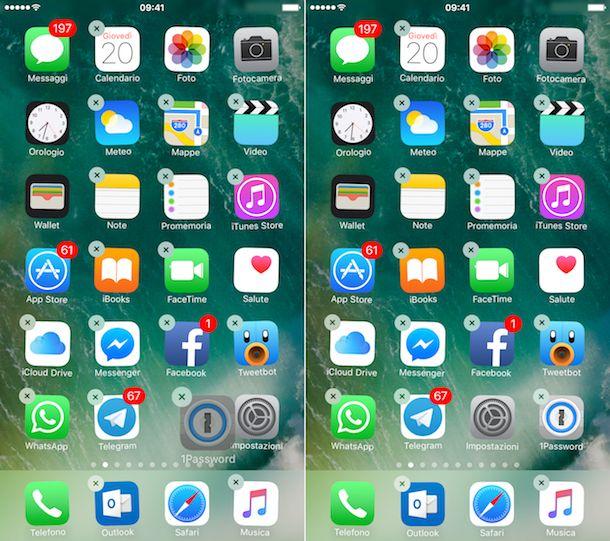 Come spostare icone iOS
