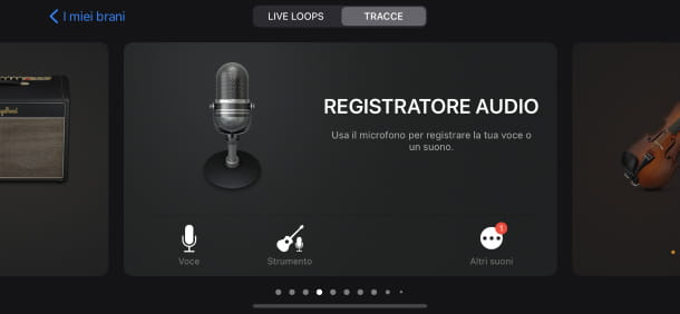 Registratore audio GarageBand