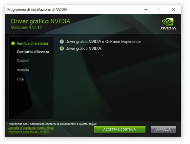 Installare driver GPU Nvidia