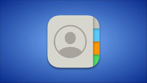 Icona Contatti iPhone