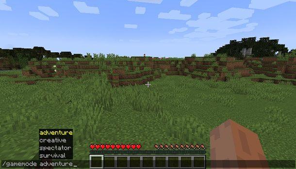 Comando Modalità Avventura Minecraft