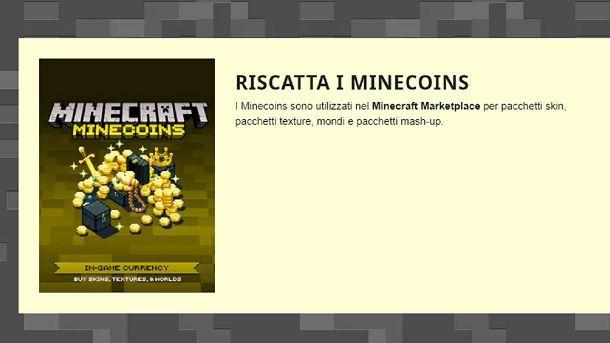 Come riscattare i codici Minecoins di Minecraft