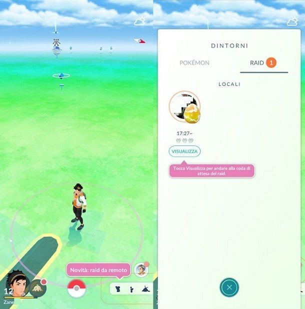 Raid dintorni Pokemon GO