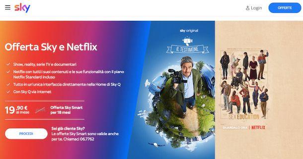 Abbonamento Netflix + Sky