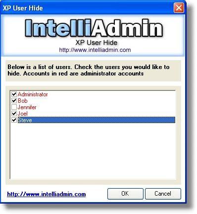 XP User Hide