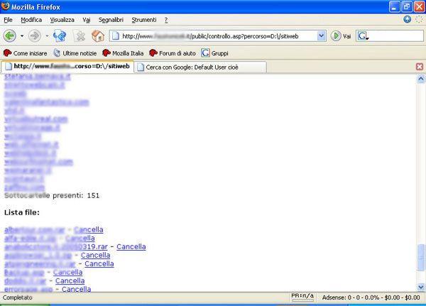 I siti web hostati dal server