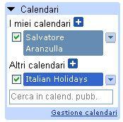 Google Calendar - Lista calendari