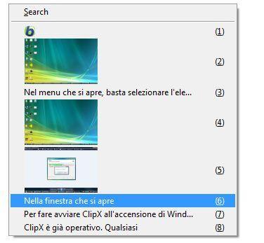 Usare ClipX