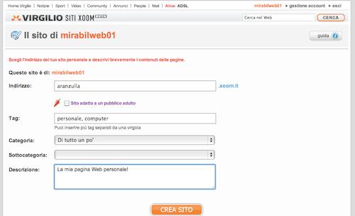 Creazione sito Web gratis