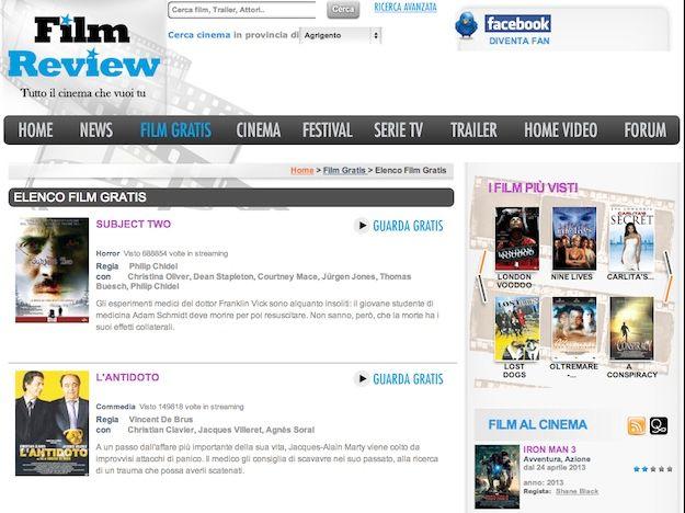 film gratis da vedere sul pc senza scaricare da