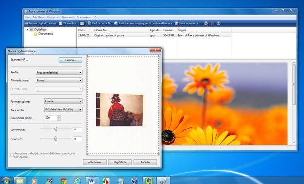 Scannerizzare un disegno su Windows