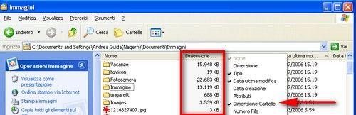 Folder Size in azione