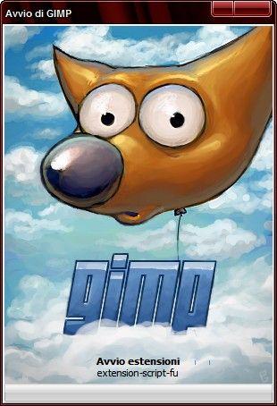 Avvio di GIMP