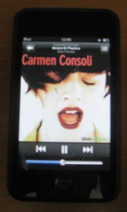 Carmen Consoli su iPod Touch