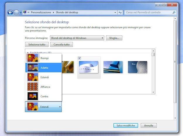 Sfondi del desktop di windows 7