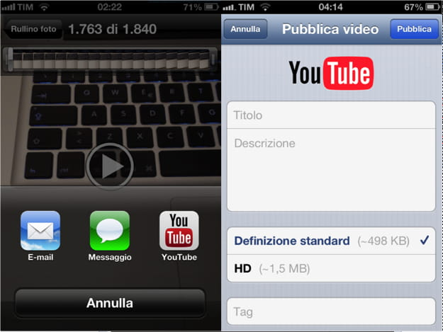 video youtube su rullino iphone