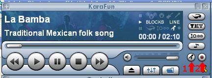 Karafun registra la voce