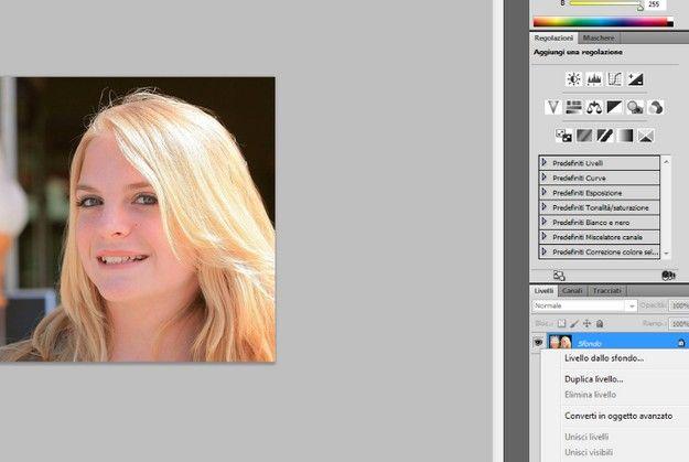 Come cambiare colore sfondo foto con photoshop