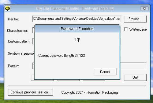 how to break password on rar file