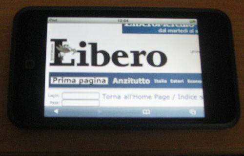 Safari su iPod Touch