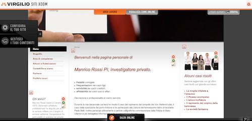 Il sito Web creato