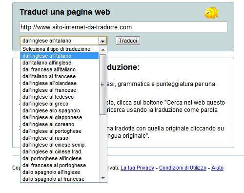 come tradurre una pagina web salvatore aranzulla