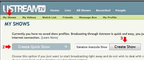 Creare una trasmissione televisiva online