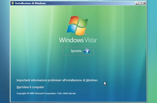Installazione di Windows Vista