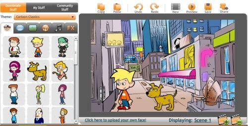 Pas pasa pan creare un cartone animato su internet