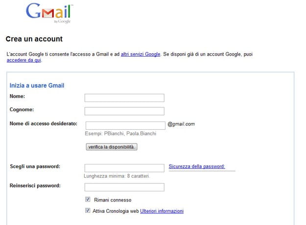 creare email con hotmail