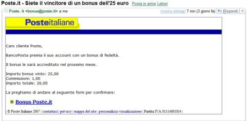 blog 25 euro e mail