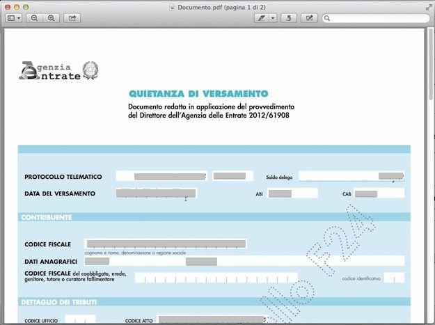 Credito groupon scadenza for Pagamento f24