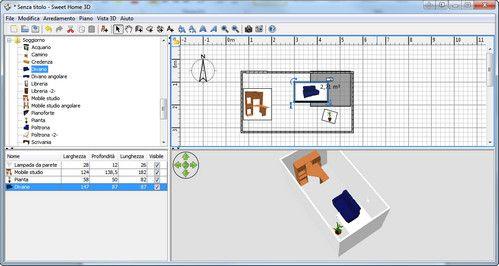 esempio di stanza visualizzata in sweet home 3d