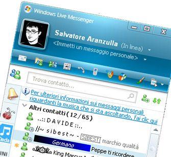 Lista contatti Messenger