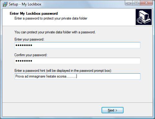 Password cartella